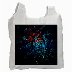 Fractal Flower Shiny  Recycle Bag (two Side)