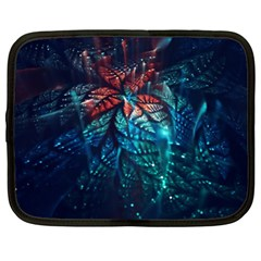 Fractal Flower Shiny  Netbook Case (xl)