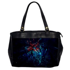 Fractal Flower Shiny  Office Handbags