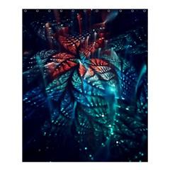 Fractal Flower Shiny  Shower Curtain 60  X 72  (medium)