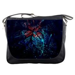Fractal Flower Shiny  Messenger Bags