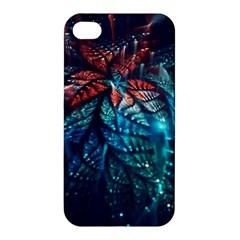 Fractal Flower Shiny  Apple Iphone 4/4s Premium Hardshell Case