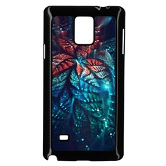 Fractal Flower Shiny  Samsung Galaxy Note 4 Case (black)