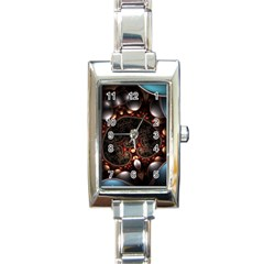 Pattern Fractal Abstract 3840x2400 Rectangle Italian Charm Watch