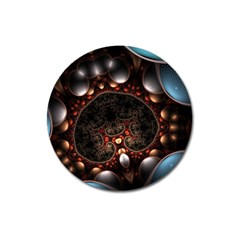 Pattern Fractal Abstract 3840x2400 Magnet 3  (round)