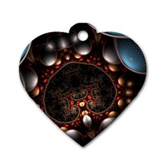 Pattern Fractal Abstract 3840x2400 Dog Tag Heart (one Side)