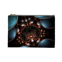 Pattern Fractal Abstract 3840x2400 Cosmetic Bag (large)