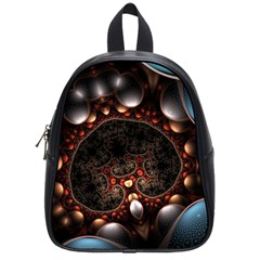 Pattern Fractal Abstract 3840x2400 School Bag (small)