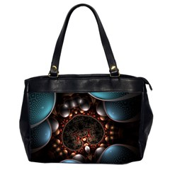 Pattern Fractal Abstract 3840x2400 Office Handbags (2 Sides)
