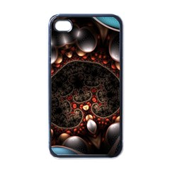 Pattern Fractal Abstract 3840x2400 Apple Iphone 4 Case (black)