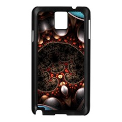Pattern Fractal Abstract 3840x2400 Samsung Galaxy Note 3 N9005 Case (black)