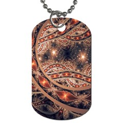 Fractal Patterns Abstract  Dog Tag (one Side)