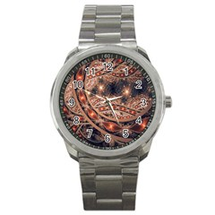 Fractal Patterns Abstract  Sport Metal Watch