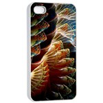 Fractal Patterns Abstract 3840x2400 Apple iPhone 4/4s Seamless Case (White) Front