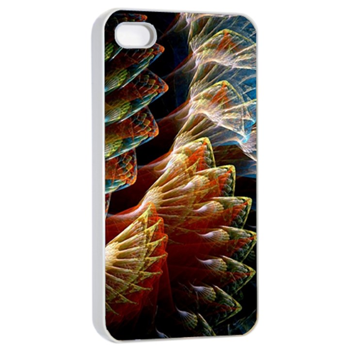 Fractal Patterns Abstract 3840x2400 Apple iPhone 4/4s Seamless Case (White)
