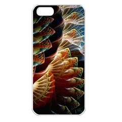 Fractal Patterns Abstract 3840x2400 Apple Iphone 5 Seamless Case (white)