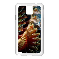 Fractal Patterns Abstract 3840x2400 Samsung Galaxy Note 3 N9005 Case (white)