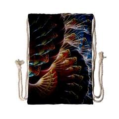 Fractal Patterns Abstract 3840x2400 Drawstring Bag (small)