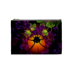 Patterns Lines Purple  Cosmetic Bag (medium)