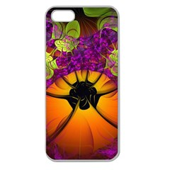 Patterns Lines Purple  Apple Seamless Iphone 5 Case (clear)