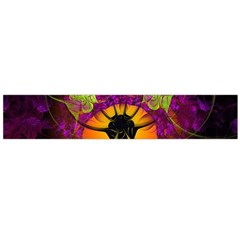 Patterns Lines Purple  Flano Scarf (large)