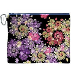 Abstract Patterns Fractal  Canvas Cosmetic Bag (xxxl)