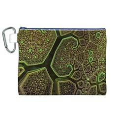 Fractal Weave Shape  Canvas Cosmetic Bag (xl)