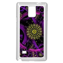 Fractal Neon Rings  Samsung Galaxy Note 4 Case (white)