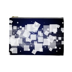 Squares Shapes Many  Cosmetic Bag (large)