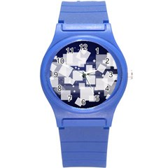 Squares Shapes Many  Round Plastic Sport Watch (s)