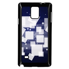 Squares Shapes Many  Samsung Galaxy Note 4 Case (black)