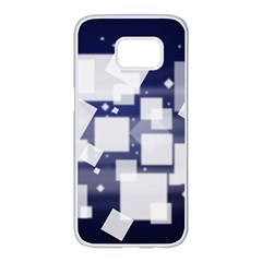 Squares Shapes Many  Samsung Galaxy S7 Edge White Seamless Case
