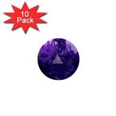 Smoke Triangle Lilac  1  Mini Buttons (10 Pack)