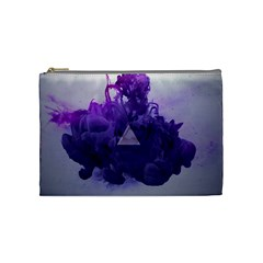 Smoke Triangle Lilac  Cosmetic Bag (medium)