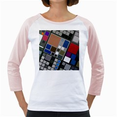 Abstract Composition Girly Raglans