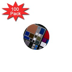 Abstract Composition 1  Mini Magnets (100 Pack)