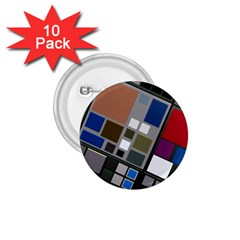 Abstract Composition 1 75  Buttons (10 Pack)