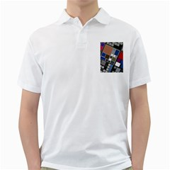 Abstract Composition Golf Shirts