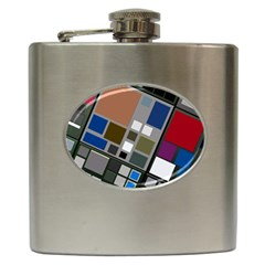 Abstract Composition Hip Flask (6 Oz)