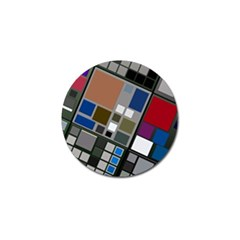 Abstract Composition Golf Ball Marker (4 Pack)