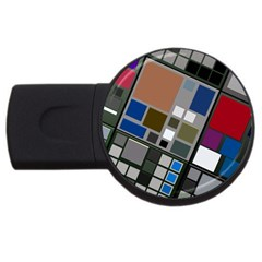Abstract Composition Usb Flash Drive Round (2 Gb)