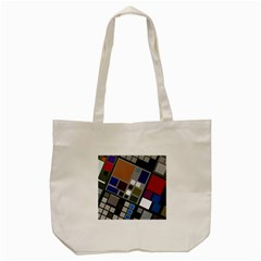 Abstract Composition Tote Bag (cream)