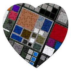 Abstract Composition Jigsaw Puzzle (heart)