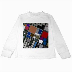 Abstract Composition Kids Long Sleeve T Shirts