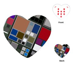 Abstract Composition Playing Cards (heart)