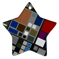 Abstract Composition Star Ornament (two Sides)