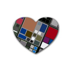 Abstract Composition Heart Coaster (4 Pack)