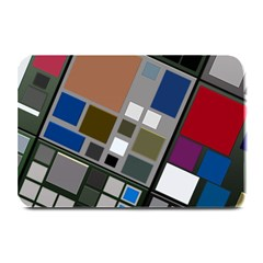 Abstract Composition Plate Mats