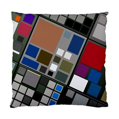 Abstract Composition Standard Cushion Case (one Side)