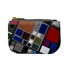 Abstract Composition Mini Coin Purses